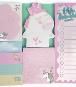 MINI MEMO NOTES, KARTKI SAMOPRZYLEPNE BIG UNICORN